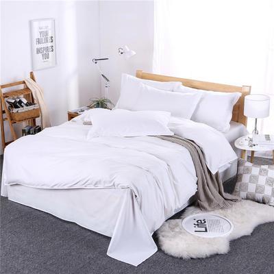 2018新款全棉13372纯白四件套 1.2m(4英尺)床 纯白