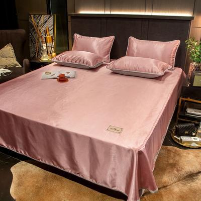 2021新品床笠款刺绣贵族定标系列凉席 单床笠90 *200cm+25cm 贵族-豆沙(床笠款)
