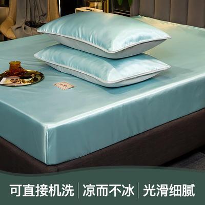 2021新品床笠款刺绣贵族定标系列凉席 单床笠90 *200cm+25cm 贵族-水绿(床笠款)