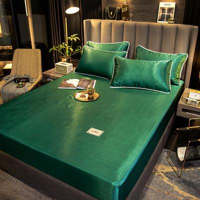 2021新品床笠款刺绣贵族定标系列凉席 单床笠90 *200cm+25cm 贵族-绿(床笠款)