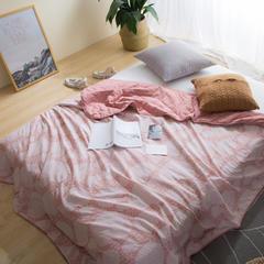水洗棉提花夏被 150x200cm 粉