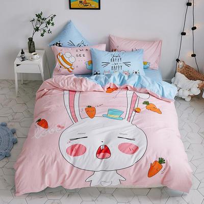 2019新全棉平网系列四件套 床单款2.0m被套220*240 兔宝宝