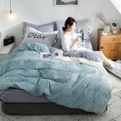 2019新款-全棉简约宜家四件套系列 床单款1.2m被套160*210 潮牌时代