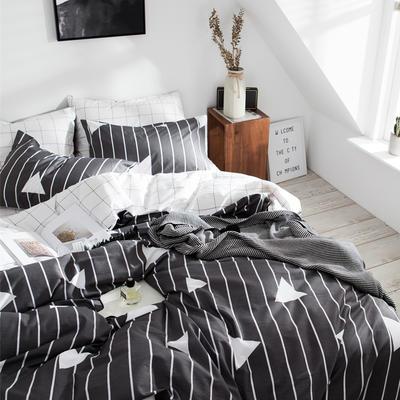 2019新款-全棉简约宜家四件套系列 床单款1.2m被套160*210 雅致