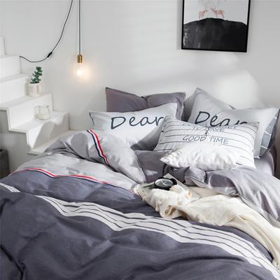 2019新款-全棉简约宜家四件套系列 床单款1.2m被套160*210 张扬青春