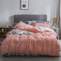 2018新款绒-立体魔法绒四件套系列 1.5m(5英尺)床 魔法绒-皮粉