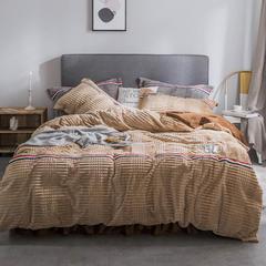 2018新款绒-立体魔法绒四件套系列 1.5m(5英尺)床 魔法绒-深米