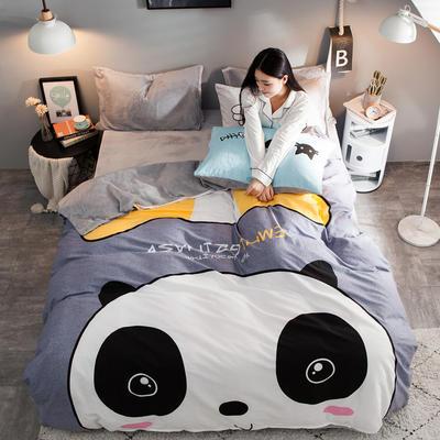 2018新款-绒-A棉大版B绒系列 三件套1.2m(4英尺)床 绒-潮酷
