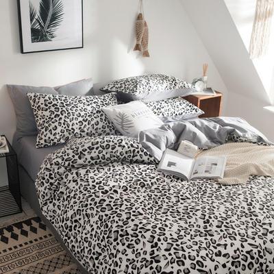 2019新款-全棉简约宜家四件套系列 床单款1.2m被套160*210 豹纹时代