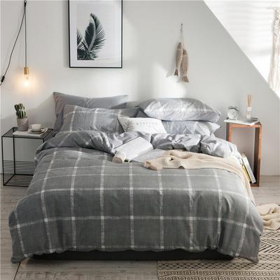 2019新款-全棉简约宜家四件套系列 床单款1.2m被套160*210 戛纳