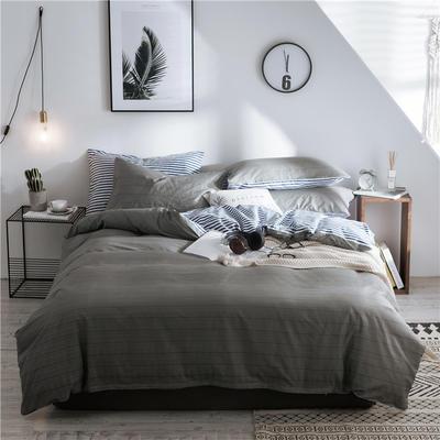 2019新款-全棉简约宜家四件套系列 床单款1.2m被套160*210 拉夫