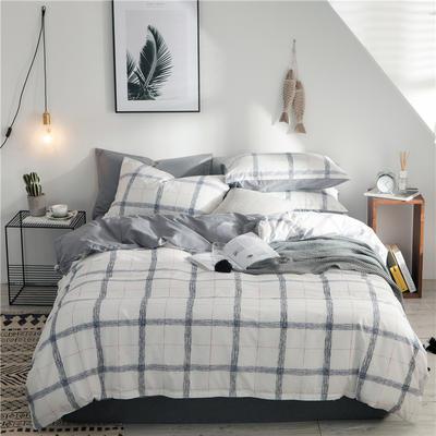 2019新款-全棉简约宜家四件套系列 床单款1.2m被套160*210 曼谷