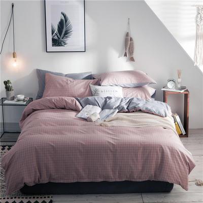 2019新款-全棉简约宜家四件套系列 床单款1.2m被套160*210 米兰