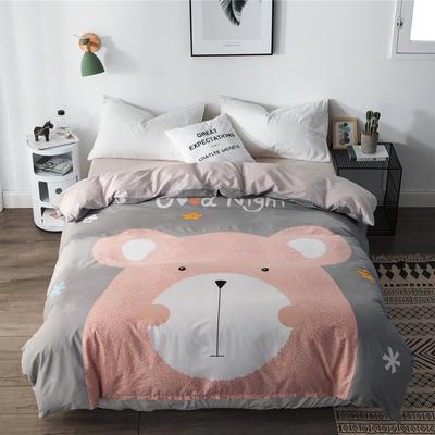 单品大版全棉被套 180x220cm 笨笨熊