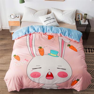 2019新款-单品大版全棉被套 220x240cm 兔宝宝