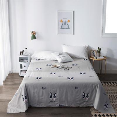 单品全棉床单 180cmx230cm 斗牛犬