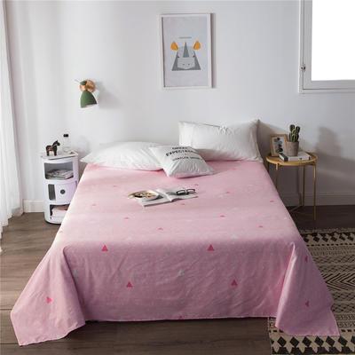 2019新款-单品全棉床单 180cmx230cm 粉三角
