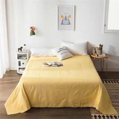 单品全棉床单 180cmx230cm 黄色雨滴