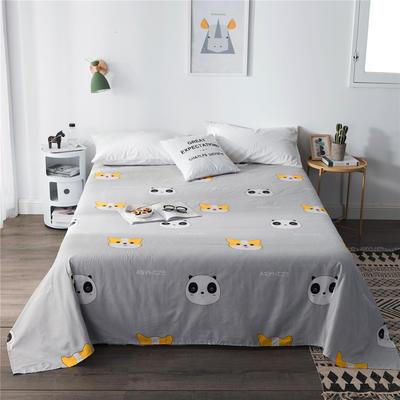 单品全棉床单 180cmx230cm 犬+熊