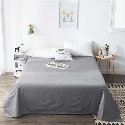 单品全棉床单 180cmx230cm 银灰
