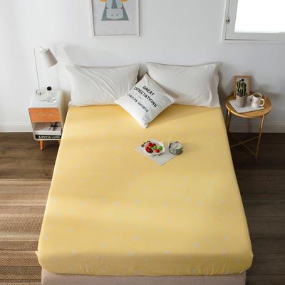单品全棉床笠 120cmx200cm 黄色雨滴1