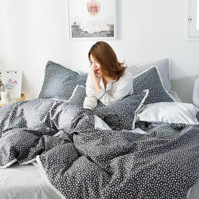 2019新款-全棉流苏款四件套 三件套1.2m(4英尺)床 眠棉