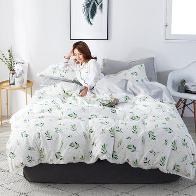 2019新款-全棉流苏款四件套 三件套1.2m(4英尺)床 抹绿