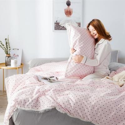 2019新款-全棉流苏款四件套 三件套1.2m(4英尺)床 暖亦