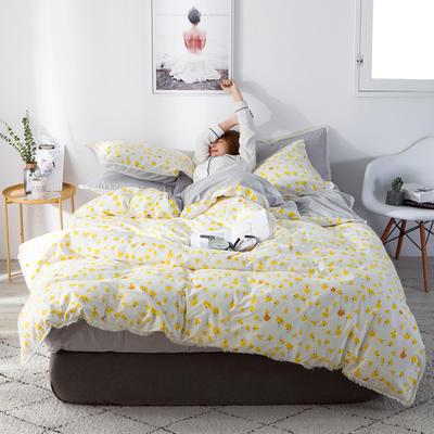 2019新款-全棉流苏款四件套 三件套1.2m(4英尺)床 向阳