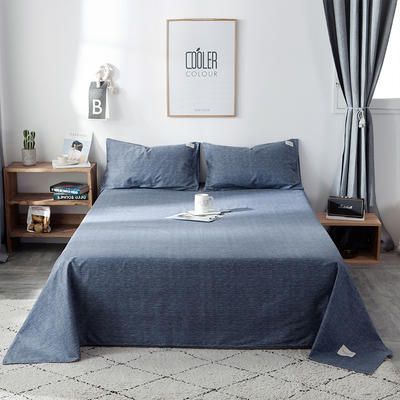 全棉织标款系列-床单 230cmx250cm 锦蓝