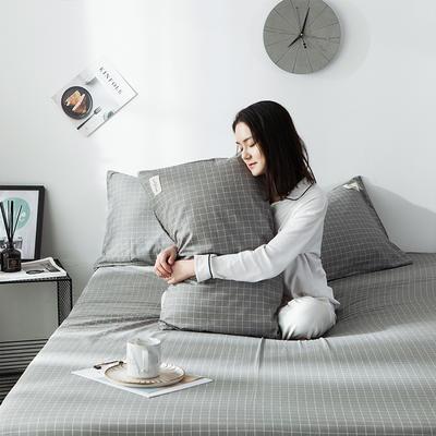 全棉织标款系列-枕套 48cmX74cm/(一对) 贝甲单枕套