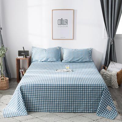2019全棉织标款系列-床单 180cmx230cm 蓝洲