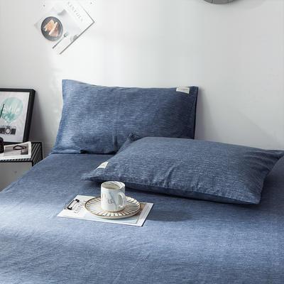 全棉织标款系列-枕套 48cmX74cm/(一对) 锦蓝单枕套