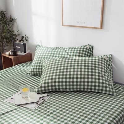 全棉织标款系列-枕套 48cmX74cm/(一对) 绿地单枕套