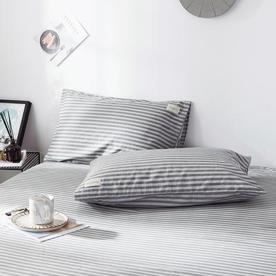 全棉织标款系列-枕套 48cmX74cm/(一对) 慢生活单枕套