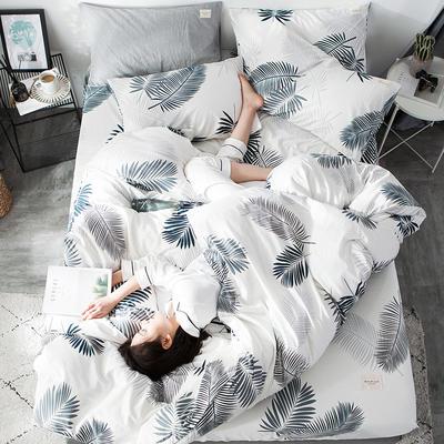 全棉织标款系列-四件套 1.2m床单款三件套 初夏