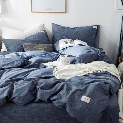 全棉织标款系列-四件套 1.2m床单款三件套 锦蓝