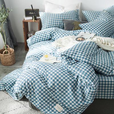 全棉织标款系列-四件套 1.2m床单款三件套 蓝洲