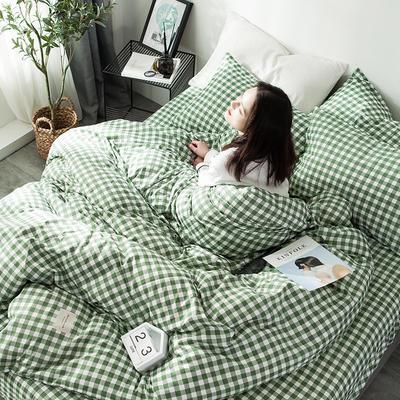 全棉织标款系列-四件套 1.2m床单款三件套 绿地
