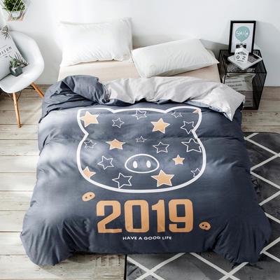 2019新款-单品大版全棉被套 160x210cm 2019猪