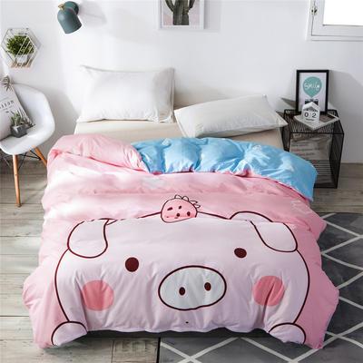 2019新款-单品大版全棉被套 160x210cm baby猪