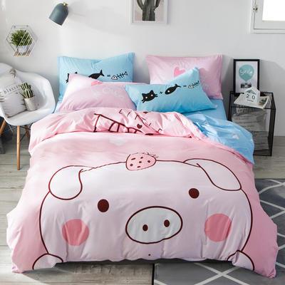 全棉平网系列四件套 床单款1.5m被套180*220 baby猪