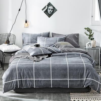 2019新款-全棉简约宜家四件套系列 床单款1.2m被套160*210 普赛风情
