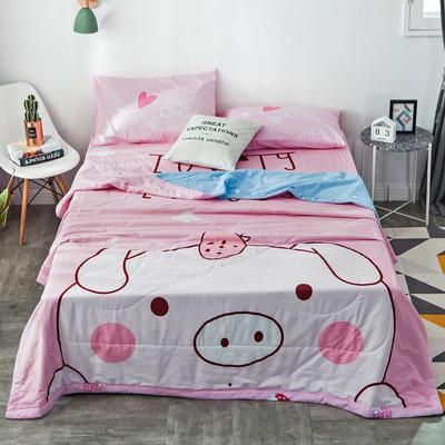 2019新款-全棉大版夏被 配一对枕套 baby猪