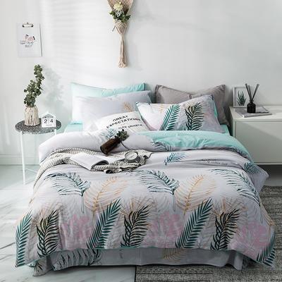2019新款-A全棉B水洗系列四件套 三件套床笠款1.2m(4英尺)床 风景线