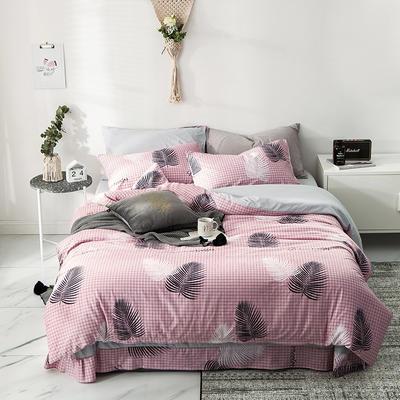 2019新款-A全棉B水洗系列四件套 三件套床笠款1.2m(4英尺)床 连理枝