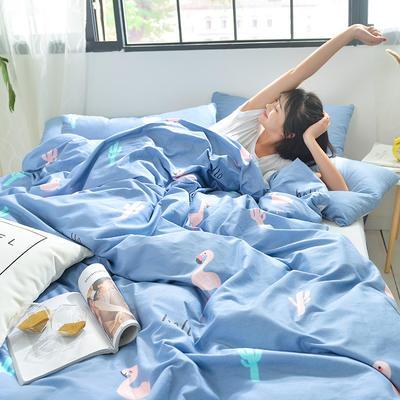 2019新款-A全棉B水洗系列四件套 床笠款1.8m(6英尺)床 琉璃岁月