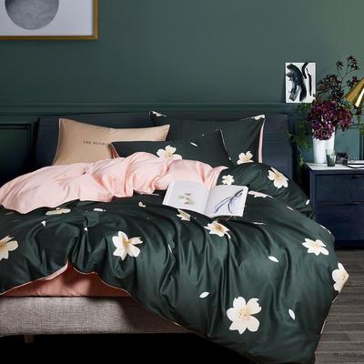 2019新款-60S长绒棉数码印花四件套 1.8m(6英尺)床 浪漫花语
