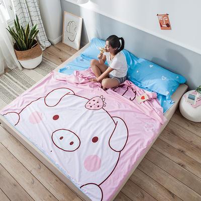 全棉平网大版-睡袋 120*230baby猪