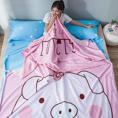 全棉平网大版-睡袋 160*230baby猪